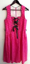Outfit gebrauchtes Damen Trachten Dirndl ärmellos Gr. 40 pink geblümt