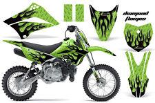 AMR RACING MOTOCROSS NUMBER PLATE GRAPHIC DECAL KIT KAWASAKI KLX 110 10-12 DMKG