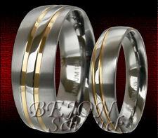 RINGE mit IP GOLD Platierung 2 WOLFRAM TRAURINGE /& GRAVUR GRATIS JW22