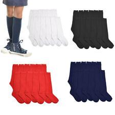 3 ~12 Knee High Uniform School Socks Women Girl White Black 2-3 4-6 6-8 9-11 Lot