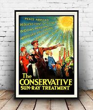 Conservador Sol Ray: Vintage político anuncio, cartel reproducción.