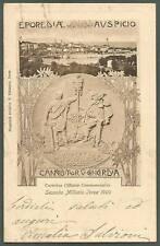 TORINO IVREA 25b Cartolina COMMEMORATIVA IN RILIEVO