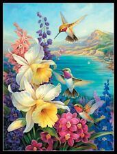 Chart Needlework Crafts DIY - Counted Cross Stitch Kits - Hummingbird Bouquet