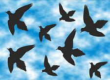 8 Stück Vögel Aufkleber - Wintergarten - Fenster - Warnvögel - Sticker  / Nr.515