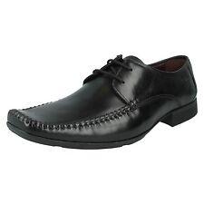 Para Hombre Clarks De Cuero Negro Con Encaje Zapatos G de montaje Tamaños 6.5-12 Ferro caminar