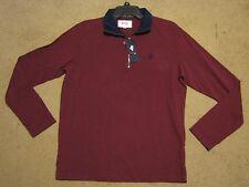 Men's Stafford Prep 1/2 zip sweater sweatshirt pullover burgundy oxblood red S M