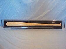 Baseball Bat Display Case HORIZONTAL black acrylic back. Fits left or right bat