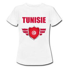 T-shirt Enfant Tunisie avec prénom au dos personnalisé - Mondial Football 2018