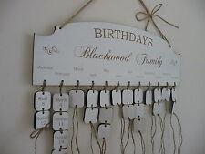 Personalizado Familia Cumpleaños Recordatorio Placa De Madera Tabla Aniversario