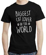 Gato amante más grande del mundo-Gatita Kitty Gatos Lindo Camiseta Camisa Prenda para el torso Camiseta