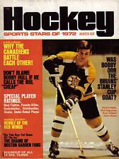 1972  Hockey Stars of 1972, magazine, Bobby Orr, Boston Bruins, Bobby Hull ~ VG