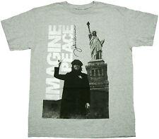 Official John Lennon Imagine Adult T-Shirt - The Beatles Rock pop English Music