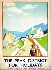 Vintage LMS Peak District Railway Poster A3/A2/A1 Print