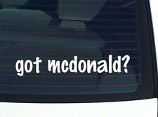 got mcdonald? FAMILY TREE REUNION LAST NAME SURNAME DECAL STICKER CAR WALL CUTE