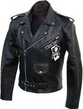 Blouson veste VINTAGE pour moto custom en cuir STYLE HARLEY avec des protections