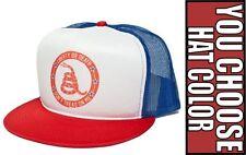New Retro Liberty Or Death Don't Tread On Me Cap Hat Trucker Snapback Baseball