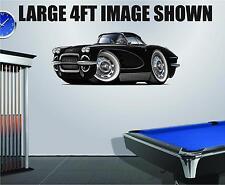 1962 Corvette Coupe 283 Wall Art Decal Sticker Graphic Garage Man Cave Decor