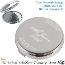 Bride Gift Personalised Mirror Compact wedding