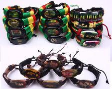 Rasta Bob Marley One Love Jamaica Reggae Music Bracelet