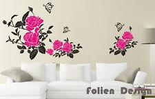 Wandtattoo  Ranke Blumen Blumenranke Wandaufkleber walltattoo wall sticker Wpf35