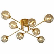 LED Cognac Glass Chandelier Lamp Restaurant Room Bedroom Ceiling Light Fixtures