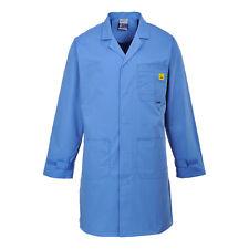 Portwest Hombre antiestático ESD Abrigo Hospital Azul/blanco varios Talla AS10