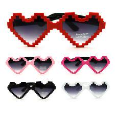SA106 16bit Pixel Heart Shape Womens Cute Love Sunglasses