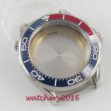 41mm PARNIS Ceramic Bezel leuchtend Watch Case Saphirglas fit 2836 8215 movement