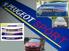 "53"" Peugeot Sport Windshield Sun strip Decal Sticker 106 206 207 306 307 308 406"