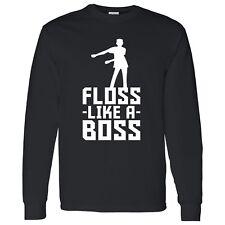 Floss Like a Boss Adult Long Sleeve T-Shirt