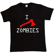 I Axe Zombies Living Dead Plague Of Undead Walking Dead Gift Mens T-Shirt