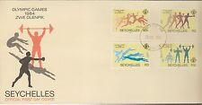 1104+ FDC ENVELOPPE 1er JOUR SEYCHELLES JEUX OLYMPIQUES 1984