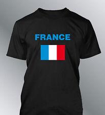 Tee shirt FRANCE supporter foot homme coupe euro monde football drapeau francais