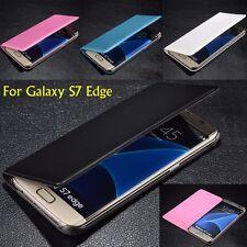 Book Style Folio Flip Case Cover For Samsung Galaxy S7 Edge