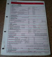Inspektionsblatt Honda Civic 5 - Türer 1.4i ab 1995!