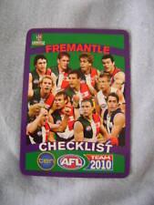 2010 TEAMCOACH AFL CARDS BASIC TEAM FREMANTLE (11) + CL