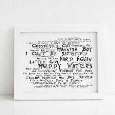 Muddy Waters Poster, Hard Again, Framed Original Art, Album Print Lyrics Gift