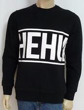 The Hundreds Wraparound Graphic Mens Black Crew Fleece Sweatshirt New NWT