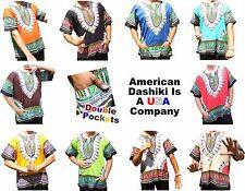 DASHIKIS Exclusive 'American Dashiki' Brand Mens 100% Cotton (A U.S. Company)