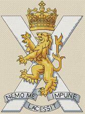 "Royal Regiment of Scotland Army Cross Stitch Design (6x8"",15x20cm, kit or chart)"