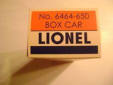 Lionel No. 6464-650 Rio Grande  Box Car Licensed Reproduction Box