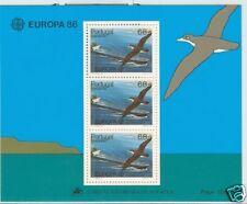 EUROPA CEPT MADEIRA 1986 SHEETLET ENDANGERED BIRD