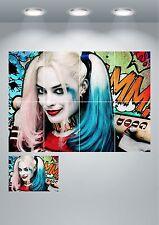 Harley Quinn suicidio escuadrón pared arte cartel impresión A3/A4 secciones o Gigante de 1 piezas