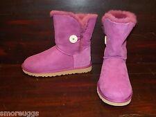 New Womens UGG BAILEY BUTTON Sugar Plum Purple Short Sheepskin Winter Boots 5803