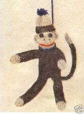 Swinging Monkey Stuffed Toy Knitting Pattern Vintage