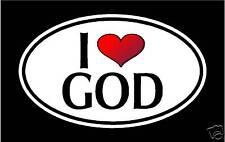 "5.75"" I LOVE GOD vinyl decal sticker... Jesus LORD"