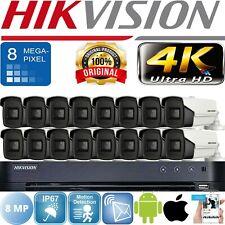 HIKVISION 4K 8MP CCTV HDTVI BNC CAMERA SYSTEM 3.6MM LENS 60M EXIR NIGHT VISION