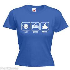 Quad Bike Ladies Lady Fit T Shirt 13 Colours Size 6 - 16