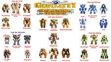 Gormiti elemental fussion-seleccione sus personajes!