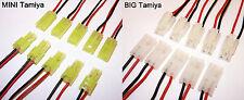 MINI oder Big Tamiya Stecker Buchse mit Kabel 100 oder 190mm Kupplung 1 2 5 Paar